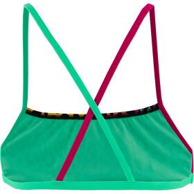 speedo JungleGlare Allover Crossback Crop Top Women jungleglare green glow/black